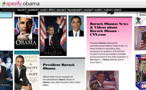 Spezify - Obama Search