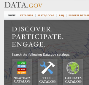 Data.gov Screenshot