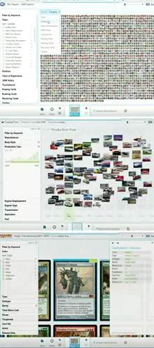 Screenshots of Microsoft Pivot
